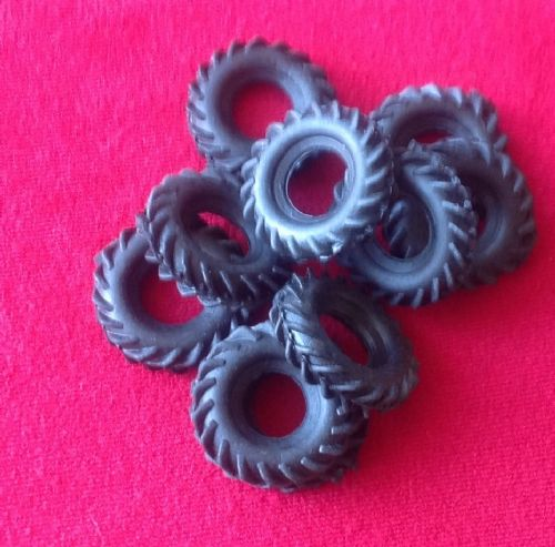 "27mm Black "" V "" Tractor Treaded Tyre for the later Dinky 965 Euclid ( Each )"